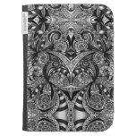 Kindle Folio Drawing Floral Zentangle Kindle Case