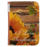Kindle Keyboard Case I Love Sunflowers, Floral