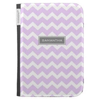 Kindle Lilac Chevron Custom Name Cases For The Kindle