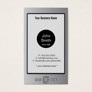 Kindle Look Alike Business Card