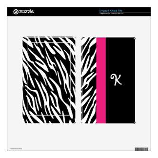 Kindle Zebra Print Monogram Skin Cover Skin For Kindle Fire