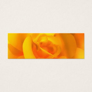 Kindled Rose Bookmarks Mini Business Card