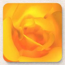 Kindled Rose Cork Coaster