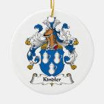 Kindler Family Crest Christmas Tree Ornament