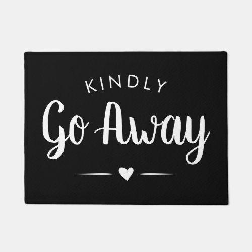 Kindly Go Away Calligraphy _ Introvert Funny Doormat