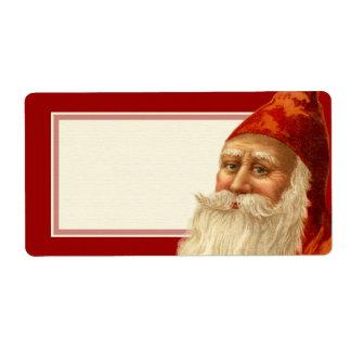 Kindly Old Fashioned Vintage Santa Christmas Shipping Label