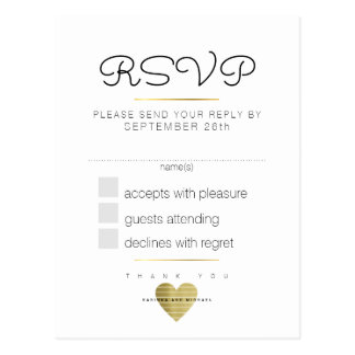 kindly reply wedding rsvp white postcard
