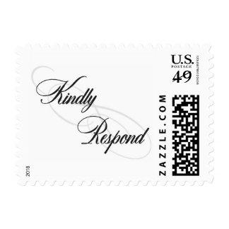 Kindly Respond -Infinity Postage Stamp