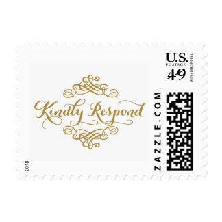 Kindly Respond Stamp
