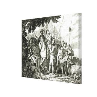 Kindness a un soldado, 1815 de sir Philip Sidney Impresiones En Lienzo Estiradas