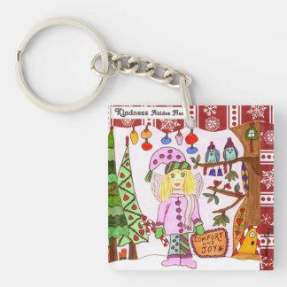 Kindness Abides Here Fairy Acrylic Key Chains