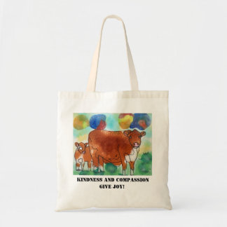Kindness and Compassion, give joy, plant based Tote Bag