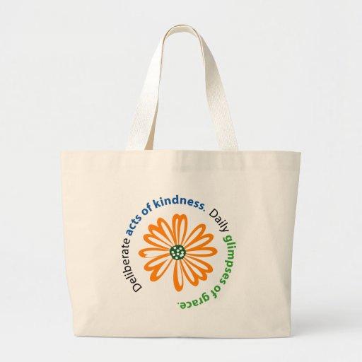 Kindness and Grace Tote Jumbo Tote Bag
