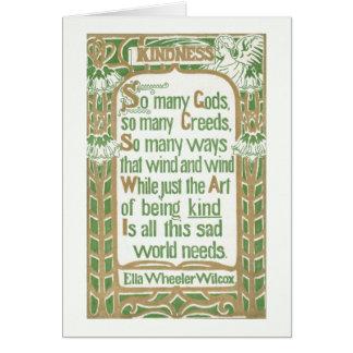 Kindness by Ella Wheeler Wilcox-light border Card