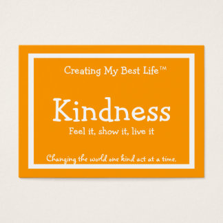 Kindness Card - Orange & Gold