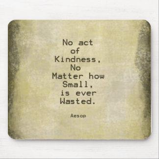 Kindness Compassion Quote Aesop Mousepads