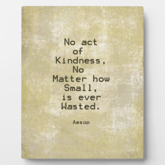 Kindness Compassion Quote Aesop Display Plaque