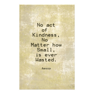 Kindness Compassion Quote Aesop Stationery Design