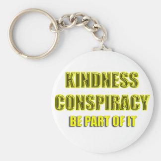 kindness conspiracy basic round button keychain
