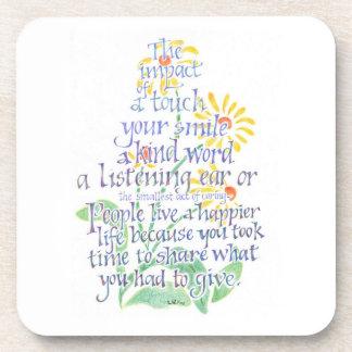 Kindness Cork Coasters
