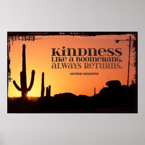 kindness always returns