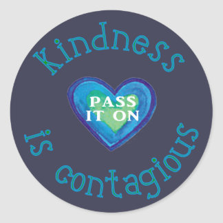 Kindness is Contagious Classic Round Sticker