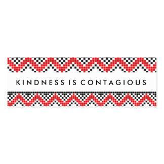 Kindness Is Contaigous Challenge Card Double-Sided Mini Business Cards (Pack Of 20)