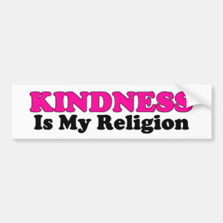 Kindness Is My Religion Bumper Sticker Car Bumper Sticker