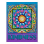 Kindness Mandala Poster