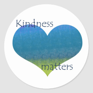 Kindness Matters Heart Classic Round Sticker