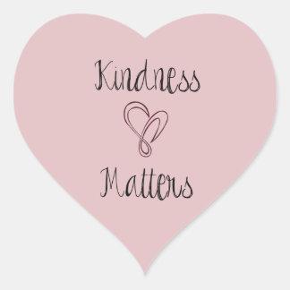 Kindness Matters Heart Heart Sticker