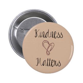 Kindness Matters Heart Pinback Button