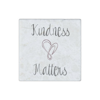 Kindness Matters Heart Stone Magnet