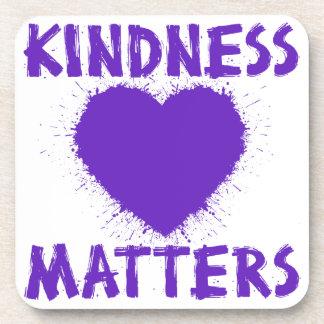 Kindness Matters, purple Beverage Coaster