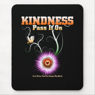 KINDNESS - Pass It On Starburst Heart Mouse Pad