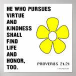 Kindness Proverbs 21:21 Print