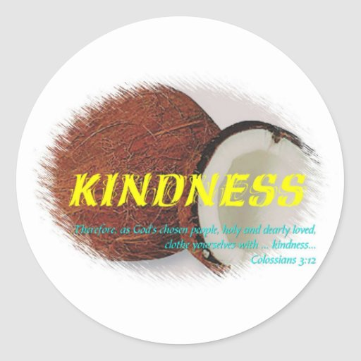 Kindness Round Stickers