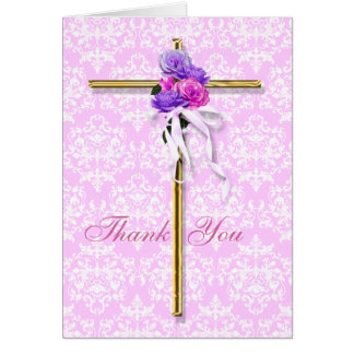 "Kindness ""thank you"" pink religious bible card"