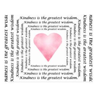 Kindness Wisdom Postcard