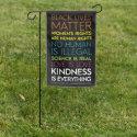 #KindnessIsEverything Garden Flag Black