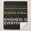 #KindnessIsEverything Sherpa Blanket