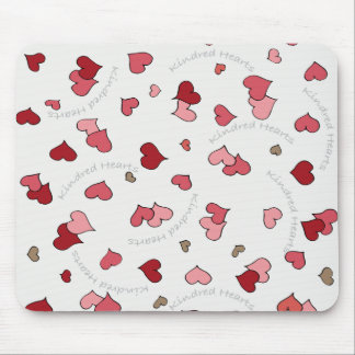 Kindred Hearts Design in Classic Pinks Mouse Pad