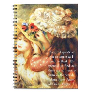 Kindred Spirits - Anne of Green Gables Quote Spiral Note Books