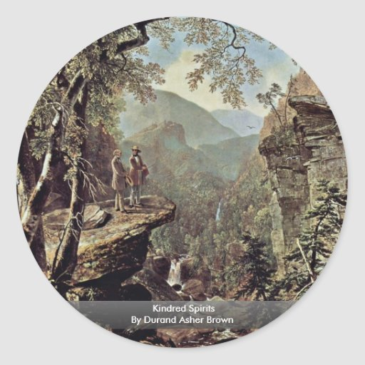 Kindred Spirits By Durand Asher Brown Sticker