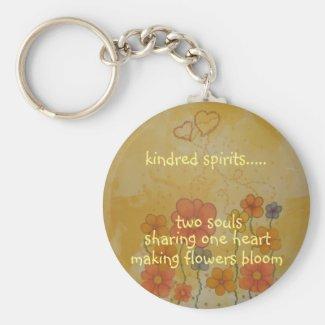 Kindred Spirits Keychain Basic Round Button Keychain