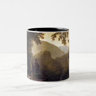 Kindred Spirits on Cliff in Woods - Durand Two-Tone Coffee Mug