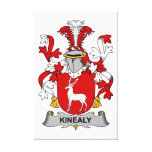 Kinealy Family Crest Canvas Print