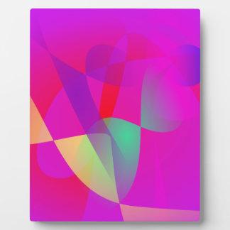 Kinetics Vivid Pink Photo Plaques