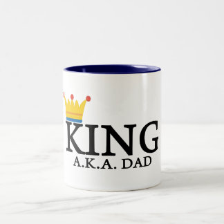 KING A.K.A. DAD Two-Tone COFFEE MUG