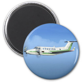 King-Air Turboprop Aircraft 2 Inch Round Magnet